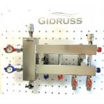 Коллекторы отопления из нержавейки с гидрострелкой Gidruss. Серия