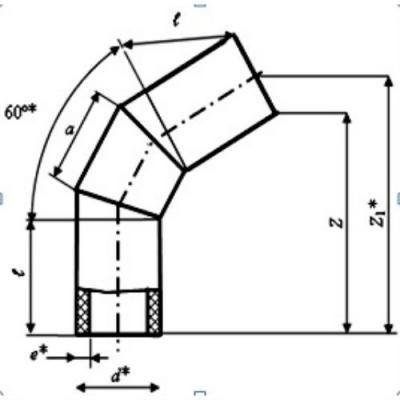 Отвод d 125 60° ПЭ 100 SDR 17
