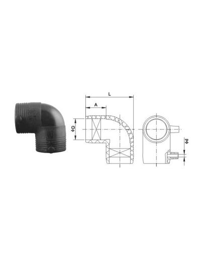 Отвод d 90x11,25° ПЭ100 SDR11 электросварной