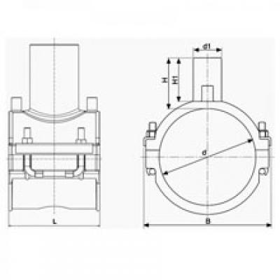 Седелочный отвод d 125x75 ПЭ 100 электросварной