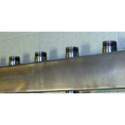 """Распределительный коллектор из нержавейки """"Гребёнка отопления на 4 контура Gidruss DMSS-25-20x4"""""""