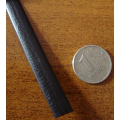 """Полиротанг """"Полумесяц черный"""", ширина 6 мм, тиснение кожа"""