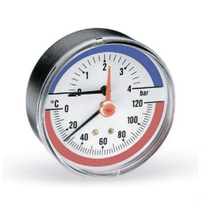 Термоманометр аксиальный Watts F+R818 (TMAP) с запорным клапаном