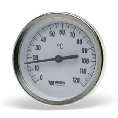 Термометр биметаллический Watts F+R801OR (TAS) 0-120С 63 мм с погружной гильзой 50 мм