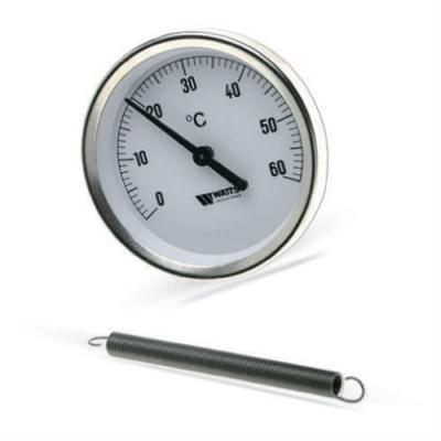Термометр биметаллический Watts F+R801 TCM (TSS) накладной 0-120С 63 мм 50 мм
