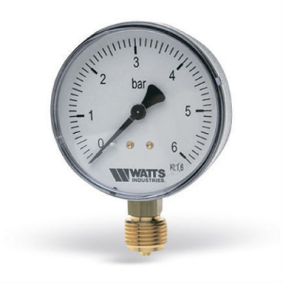 """Манометр радиальный Watts F+R200 (MRP) 0-6 бар, 50 мм, 1/4"""""""