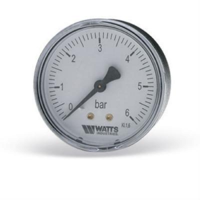 Манометр аксиальный Watts F+R100 (MAL) 0-6 бар, 50 мм, 1/4'
