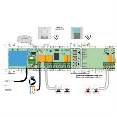 Модуль коммутационный радиоуправляемый Watts BT-RF (SLAVE) Дополнительный на 4 зоны