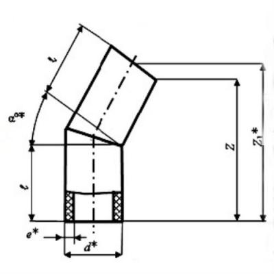 Отвод d 250 30/45° ПЭ 100 SDR 11