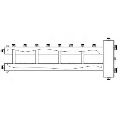 Коллектор с гидрострелкой на 5 контуров Gidruss BM-150-5U