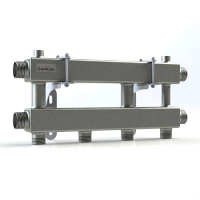 Модульный коллектор отопления Gidruss на 2 контура MK-100-2