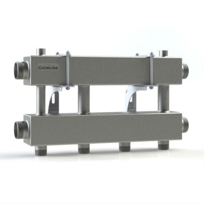 Модульный коллектор отопления на 2 контура Gidruss MK-150-2x25