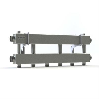 Модульный коллектор отопления на 3 контура Gidruss MKSS-150-3x25 из нержавейки