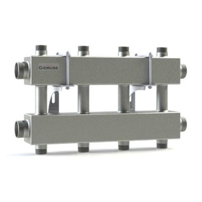 Модульный коллектор отопления Gidruss на 4 контура MK-150-4DUx25