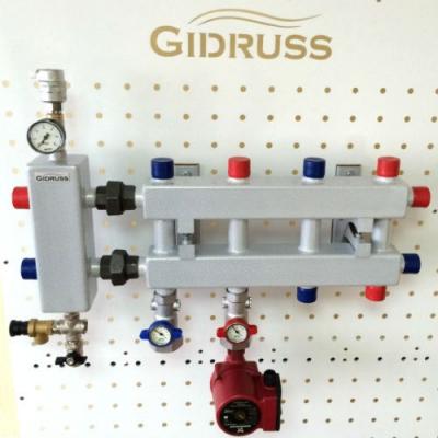 Модульный коллектор Gidruss MK-40-5DU на 5 контуров