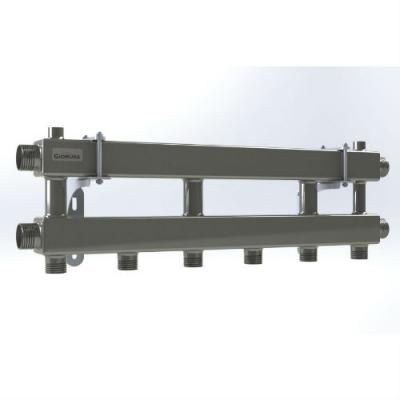 Модульный коллектор отопления Gidruss на 3 контура MK-100-3