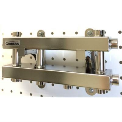 Модульный коллектор  Gidruss MKSS-40-3D из нержавейки на 3 контура