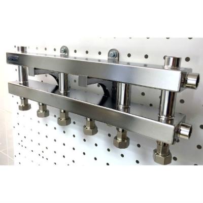 Модульный коллектор  Gidruss MKSS-40-4D из нержавейки на 4 контура
