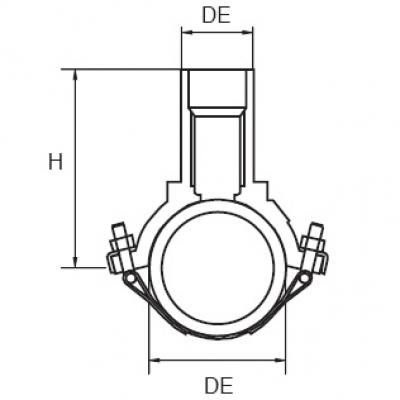 Седелочный отвод d 110x20 ПЭ 100 электросварной