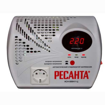 """Стабилизатор напряжения """"Ресанта. АСН-500 Н/1-Ц"""" однофазный"""