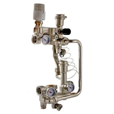 Насосно-смесительный узел Valtec Combimix VT.COMBI.0.180 для теплого пола с термоголовкой, без насоса