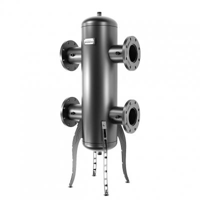 Гидрострелка Gidruss GR-1200-125 (до 1.2 мВт, 1-125-10 ГОСТ 12820-81, корпус из бесшовной трубы D=273 мм ст. 09Г2С толщиной от 8 мм, 4 подключения Rp ½″) Артикул: GR 12F00 20
