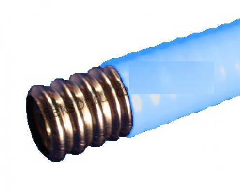 Труба гофрированная из нержавеющей стали отожжённая 25 с п/э покрытием