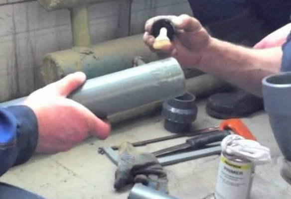 Труба пвх клеевая 20x5 с раструбом