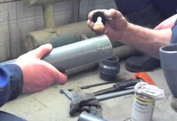 Труба пвх клеевая 40x3 с раструбом