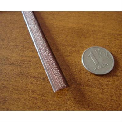 """Полиротанг """"Полумесяц шоколадный"""", ширина 7 мм, тиснение дерево"""