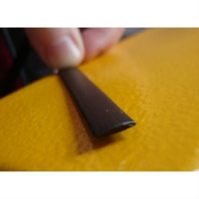 """Полиротанг """"Полумесяц венге"""", ширина 6 мм текстура гладкая"""