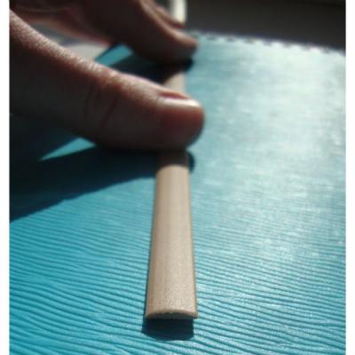 """Полиротанг """"Полумесяц бежевый"""", ширина 9 мм текстура гладкая"""