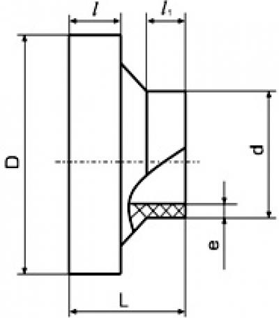 Втулка под фланец 160 ПЭ 100 SDR 17 литая короткая